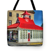 Pagoda Gas Station Tote Bag