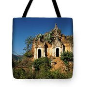 Pagoda In Ruins Tote Bag