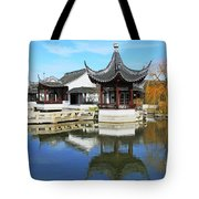 Pagoda In The Pool Tote Bag
