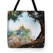 Pagoda On Mountain Tote Bag