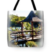 Pagoda Over The Lake Tote Bag