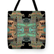 Pagoda Tower Becomes Chinese Lantern 1 Chinatown Chicago Tote Bag