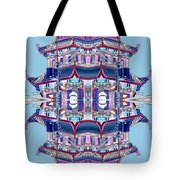 Pagoda Tower Becomes Chinese Lantern 2 Chinatown Chicago Tote Bag by Marianne Dow