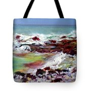 Pahoehoe Winter Surf Tote Bag