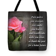 Pain Makes You Stronger Motivational Quotes Tote Bag