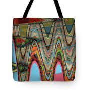 Paint Flow Collision Tote Bag