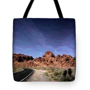 Paint Mixed Valley Of Fire Landscape  Tote Bag