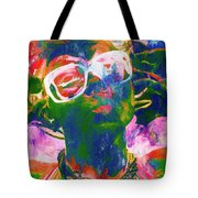Paint Splash Pinup Art Tote Bag