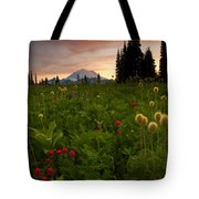 Paintbrush Sunset Tote Bag
