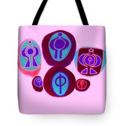 Painted Asteroids 12 Tote Bag by Eikoni Images