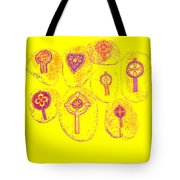 Painted Asteroids 2 Tote Bag by Eikoni Images