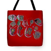 Painted Asteroids 3 Tote Bag by Eikoni Images
