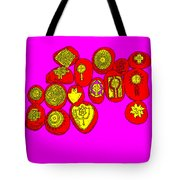 Painted Asteroids 4 Tote Bag