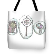 Painted Asteroids 5 Tote Bag by Eikoni Images