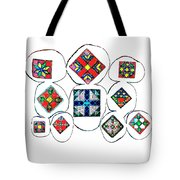 Painted Asteroids 7 Tote Bag by Eikoni Images