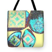 Painted Asteroids 8 Tote Bag by Eikoni Images