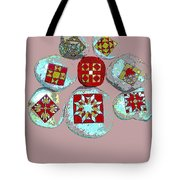 Painted Asteroids 9 Tote Bag by Eikoni Images