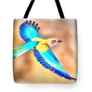Painted Birds In Skyline Tote Bag