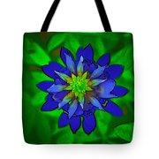Painted Bluebonnet Tote Bag
