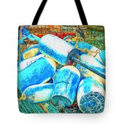 Painted Buoys Tote Bag