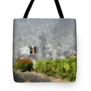 Painted Bushes Tote Bag