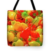 Painted Chilies Tote Bag