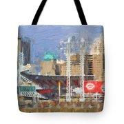 Painted Cincinnati Ohio Tote Bag