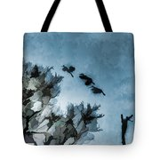 Painted Cranes Tote Bag
