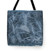 Painted Cyanotype Golden Wheat Tote Bag