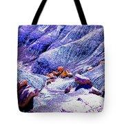 Painted Desert With Petrified Wood - Arizona Tote Bag