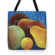 Painted Fruit Tote Bag