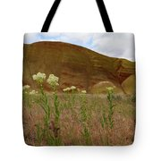 Painted Hills White Wildflowers Tote Bag