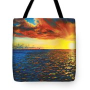 Painted Horizon Tote Bag