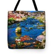 Painted Hot Creek Springs Tote Bag