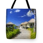 Painted Island Pathway Tote Bag