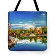 Painted Klondike Autumn Tote Bag