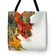 Painted Leaf Abstract 1 Tote Bag