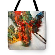 Painted Leaf Abstract 2 Tote Bag
