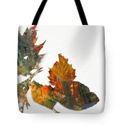 Painted Leaves Abstract 1 Tote Bag