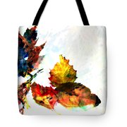Painted Leaves Abstract 2 Tote Bag