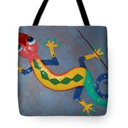 Painted Lizard Tote Bag