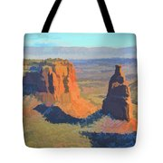 Painted Mesa Tote Bag