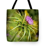Painted Milk Thistle Tote Bag