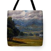 Painted Mountains II Tote Bag