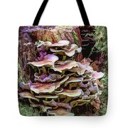 Painted Mushrooms Tote Bag