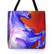 Painted Mustang Tote Bag