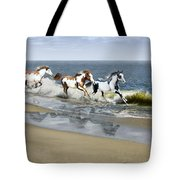 Painted Ocean Tote Bag