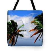 Painted Palm Trees Tote Bag