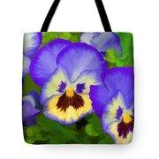 Painterly Pansies Tote Bag