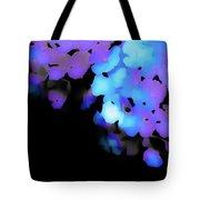 Painted Petals In Blue Purple Tote Bag